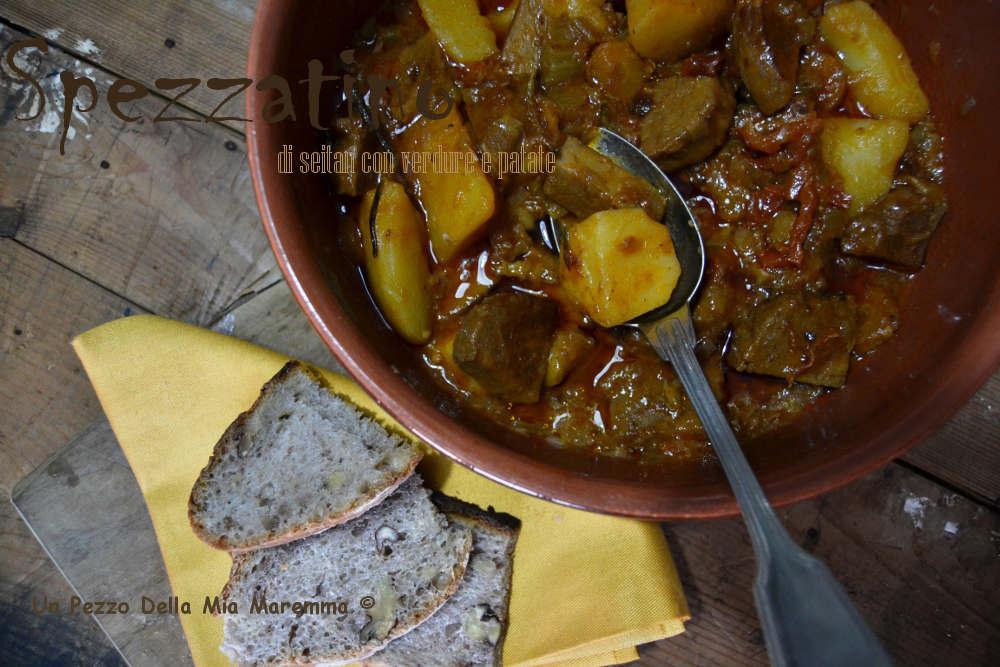 spezzatino di seitan con verdure e patate