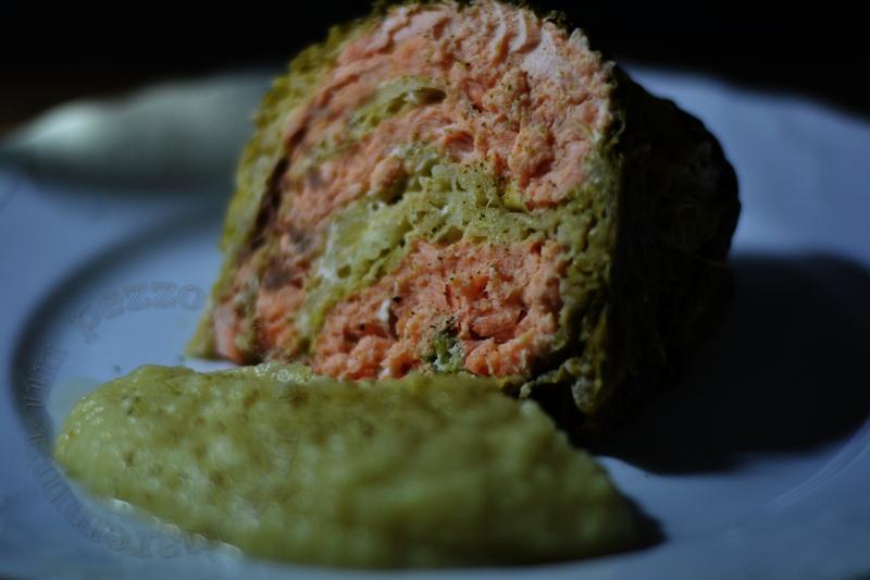 turbante di verza e salmone