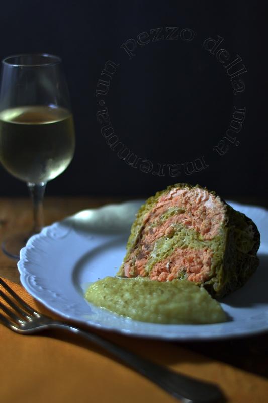turbante di verza al salmone