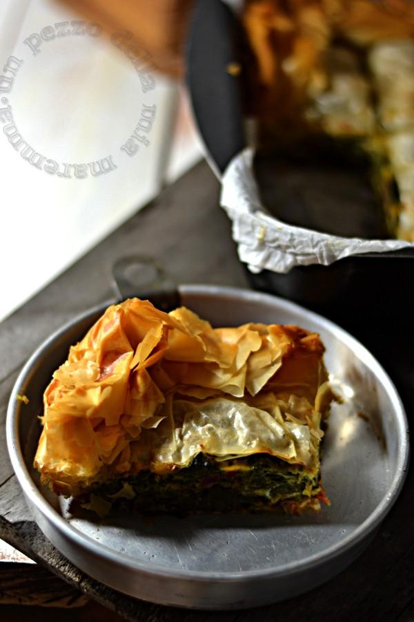 spanakopita, torta di pasta phillo