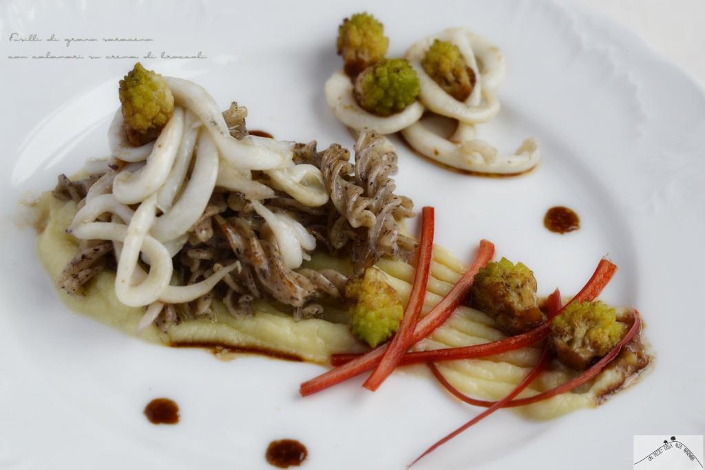 grano saraceno e calamari